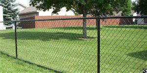 Green Pvc Coated Galvanized Chain Link Fence