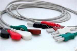 ecg ekg leadwires 1 5 din 7 10 holter cable aha snap