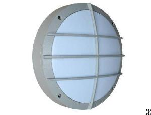 20w Bulkhead Wall Light Round Shape Grey Housing With Grill Aluminum Housing Powering Coating Ip65