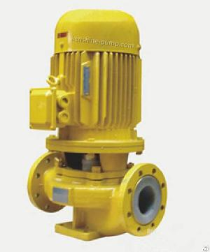 gbf vertical fluorine plastic lined pipeline centrifugal pump
