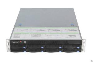 2u Rackmount Computer Server With C612 Chipset Two Xeon E5-2600 Cpu 8 Hot Swap Hdd