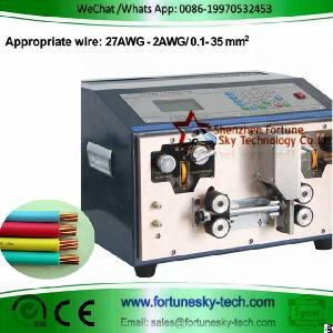 Automatic 27awg-2awg 0.1-35sqmm Wire Stripping Machine