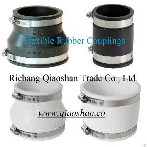 flexible coupling cast iron plastic copper clay ductile steel pipe connection