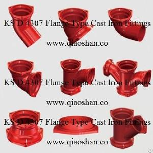 ksd 4307 flange cast iron fittings