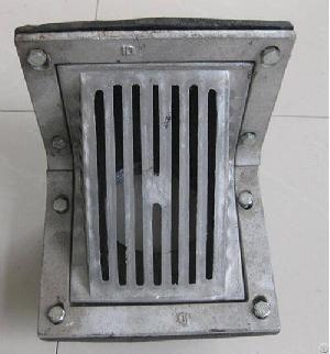 middle east scupper drain aluminum grate cast iron body