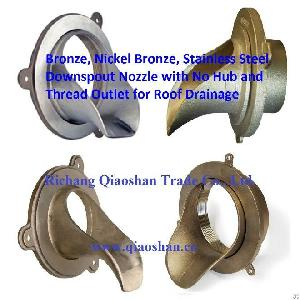 stainless steel downspout nozzle thread outlet roof drainage