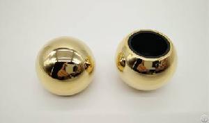gold zamac round cap