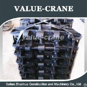 crawler crane track shoe fuwa quy80 undercarriage