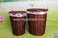 handmade wicker laundry basket lid