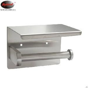 hyland stainless steel toilet tissue holder shelf