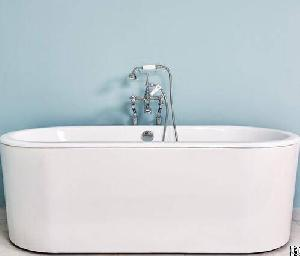 ended flat edge cast iron bathtub yx 012