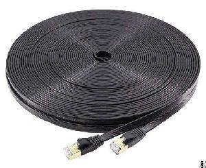 100ft Gigabit Gold Plated Flat Cat7 Ethernet Lan Cable