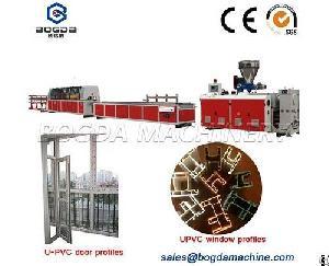 plastic upvc window door profile extrusion machine