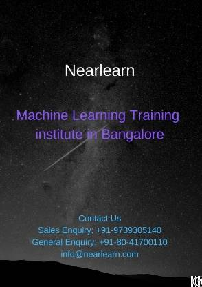 �machine learning python training bangalore
