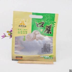 eco food grade die cut handle plastic bags