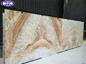 Book Matched Cloud Sunset Marble Slabs