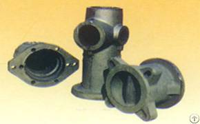 Valve Made From Iron Casting Under Automatic Molding Line Used For Pipe Or Drainage System