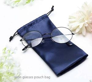 glasses satin pouch bag