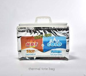plastic aluminium foil thermal tote bag gusset