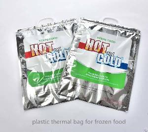 plastic isothermal cooler tote bag frozen food