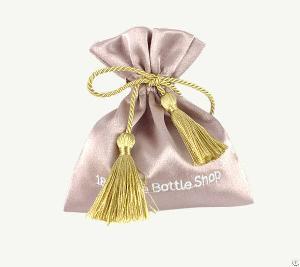 satin gift pouch tassels