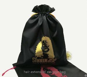 satin hair extension package bag