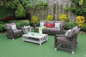 Unique Outdoor Five Piece Wicker Sofa Set Rasf-121 5