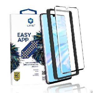 huawei p30 pro covered tempered glass screen protector applicator