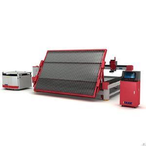 water jet cnc cutting machine metal glass stone cut