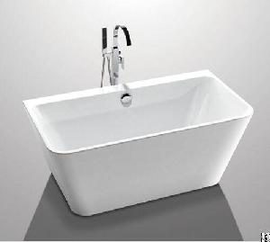 glossy solid surface acrylic standing bathtub indoor square shaped yx 761k