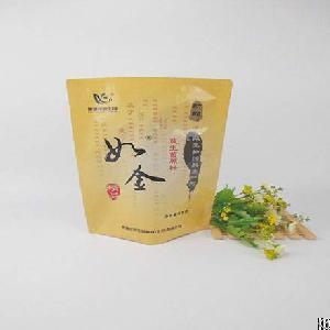 plastic side seal bag powder feed packaging