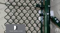 chain link security fence barbed wire outside
