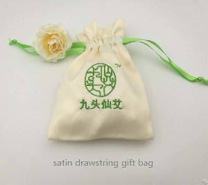 embroidery satin jewelry pouch