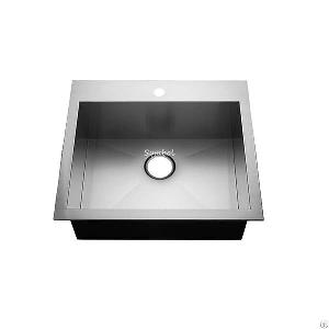 25x22 topmount stainelss steel kitchen sink