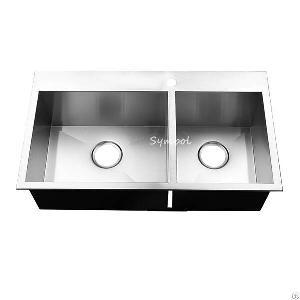 gauge16 60 40 topmount stainless handmade sink
