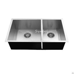 32 counter stainless steel sink