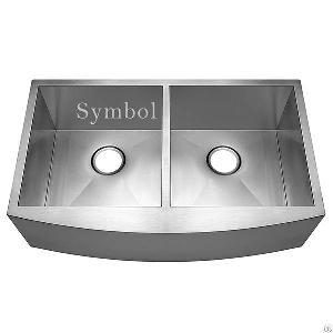 33 bowl stainless steel farmhouse sink