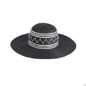 paper braid floppy hat