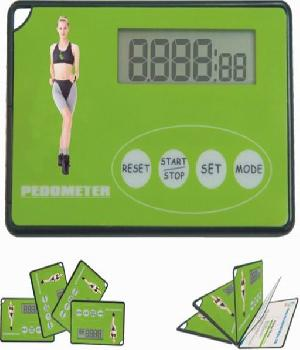 card shape pedometer gift step distance calorie counter digital clock 4
