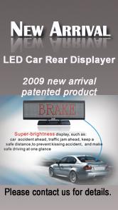 led car rear displayer message sign displaer