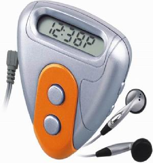 novel promotional gifts pedometers fm radio step counter isinotech