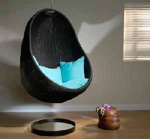 synthetic wicker bubble chair
