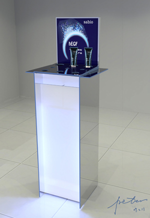 cosmetic showroom display stands
