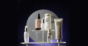 cosmetics display stand countertop