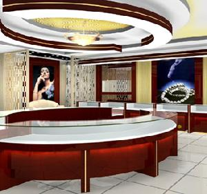led showcase jewellery store