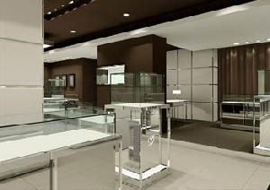mdf display showcase store