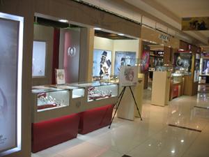 wood showcase watch shop store