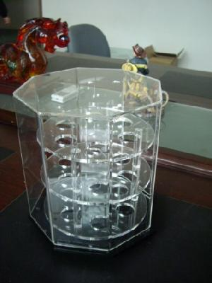 revolving golf ball display case acrylic