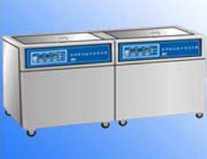 2 slot digital control ultrasonic cleaning flowline