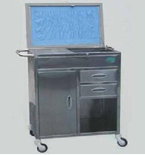 8544 stainless steel emergency treatment trolley
